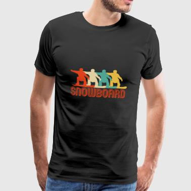 Awesome Retro Pop Art Style Snowboard Gifts. SALE - Men's Premium T-Shirt