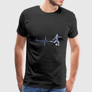 Gift heartbeat football - Men's Premium T-Shirt