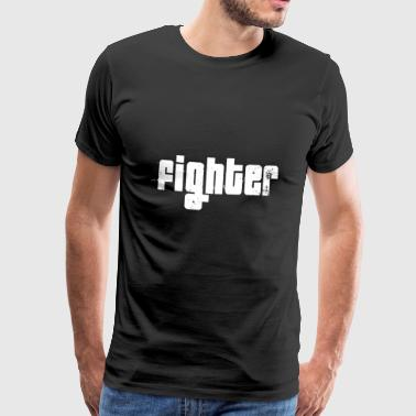 Fighter vit - Premium-T-shirt herr