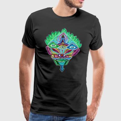 Colorful Psyhead - Männer Premium T-Shirt