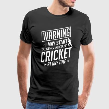 Cricket gave - fotballspiller Pitcher Catcher - Premium T-skjorte for menn