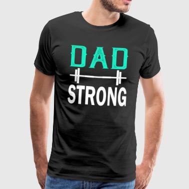 Far Strong - fitness - Herre premium T-shirt