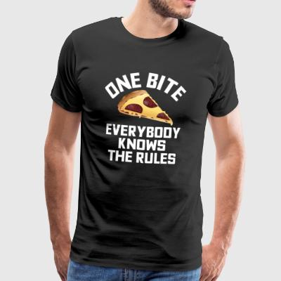 One Bite Everybody Know The Rules - Men's Premium T-Shirt