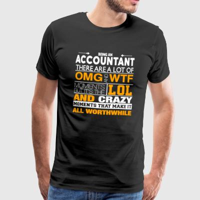 Grappig Accountant Shirt - Mannen Premium T-shirt