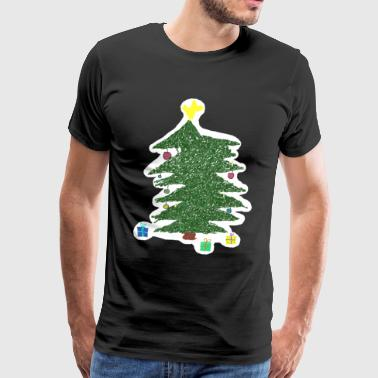 Christmas Kids Drawing - Men's Premium T-Shirt