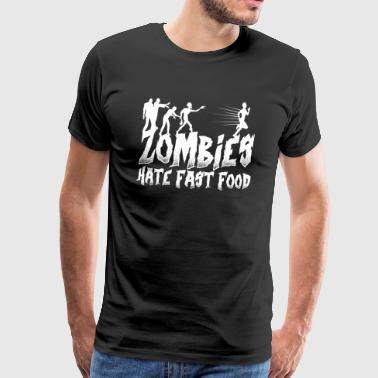 Zombies Zombie Fast Food lusitg - Premium T-skjorte for menn