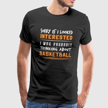 Basketball T-skjorte - Premium T-skjorte for menn