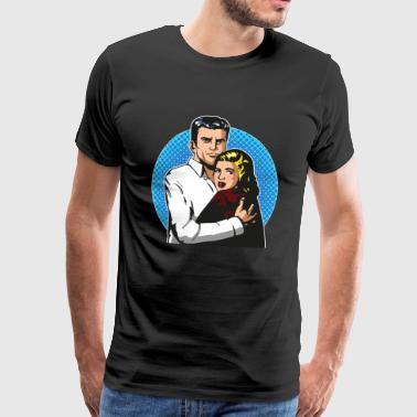 Pop Art Horror Drama - Männer Premium T-Shirt