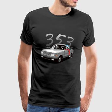 Wartburg 353 with driver - Men's Premium T-Shirt