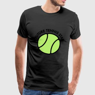 2541614 15400715 tennis - Premium T-skjorte for menn