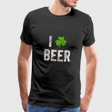 I Love Beer St. Patricks Day T Shirt Gift - Men's Premium T-Shirt