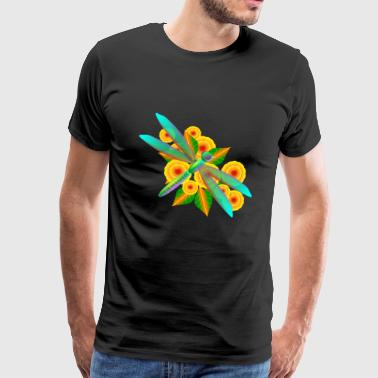 dragon fly libelle insect insekten animal tiere - Männer Premium T-Shirt