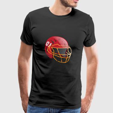 USA Gift Football Helmet Sport Champion Vintage - Men's Premium T-Shirt