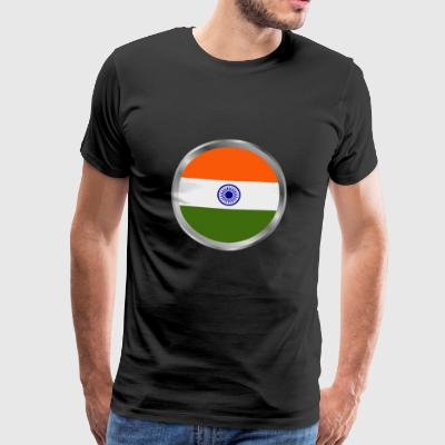india flag - Men's Premium T-Shirt