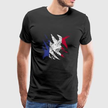 France flag gift french flag - Men's Premium T-Shirt