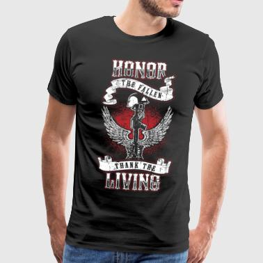 Honor the fallen! Soldier! Veteran! Patriot! - Men's Premium T-Shirt