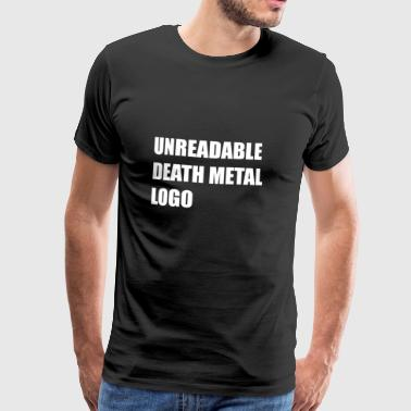 unreadable death metal logo - Men's Premium T-Shirt