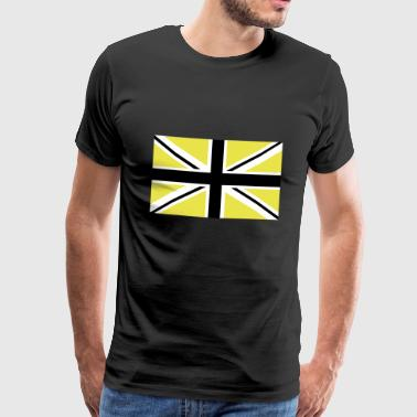 Union Jack | black-white-yellow Flag flag - Men's Premium T-Shirt