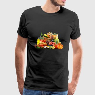 orange banana apple tomato cucumber pineapple - Men's Premium T-Shirt