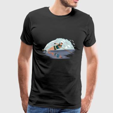 waterskiën waterskiën water3 - Mannen Premium T-shirt