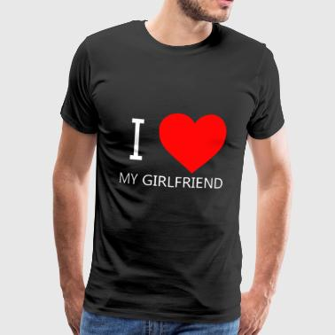 I LOVE MY GF CAP - Men's Premium T-Shirt