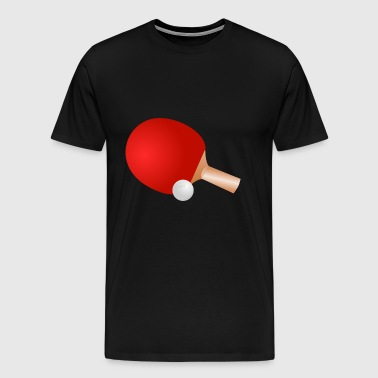 bordtennis Pingis tennis bat11 - Premium-T-shirt herr