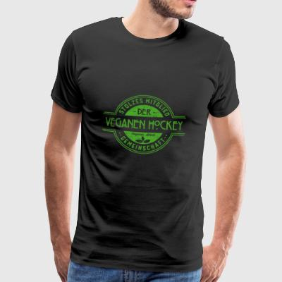 Hockey vegan athlete community gift - Men's Premium T-Shirt