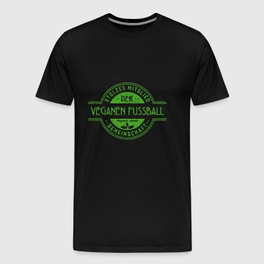 Football vegan atleet Community Gift - Mannen Premium T-shirt