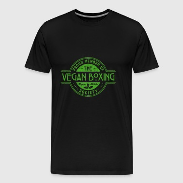 Vegan Boxing Athlete Society Club Medlem Gift - Herre premium T-shirt