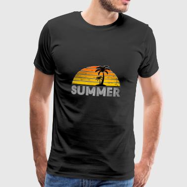 Summer Summer Palm Tree Gift Beach Sun Seagull - Men's Premium T-Shirt