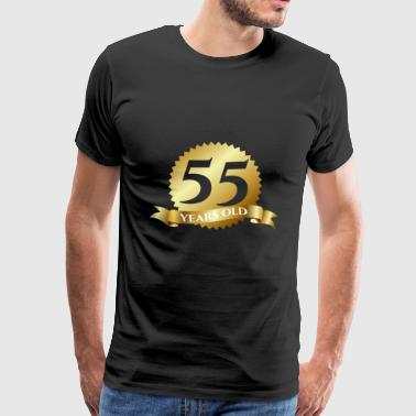 55. Birthday: 55 Years Old - Men's Premium T-Shirt