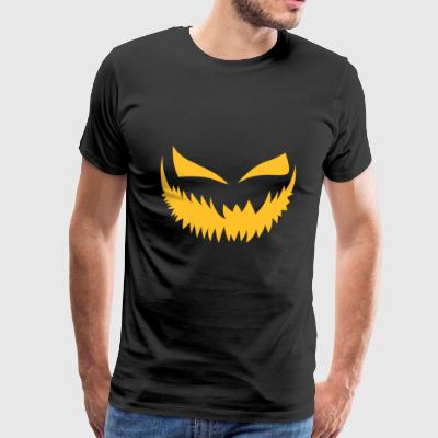 Scary Pumpkin Face - Premium T-skjorte for menn