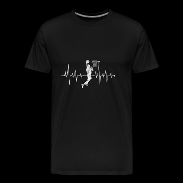 Heart Rate Heart Rate Heart Line Basketball - Men's Premium T-Shirt