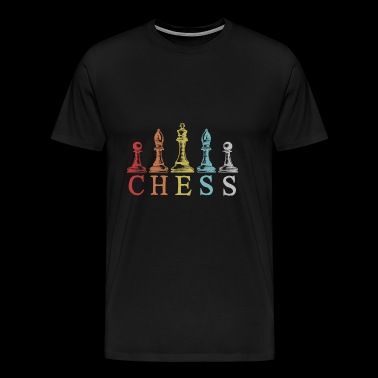 Chess chess pieces gift chess chess player - Men's Premium T-Shirt