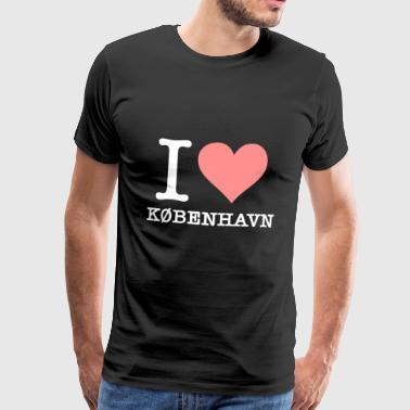 I Love Copenhagen - Men's Premium T-Shirt