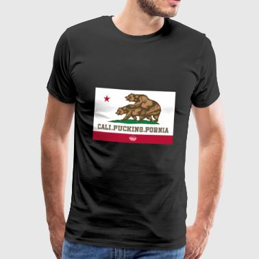 California, Californian, Fuck, Bear - Men's Premium T-Shirt