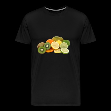 orange frukt veggie veggie fruits15 - Premium-T-shirt herr
