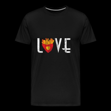 Love chips cadeau Fast Foot shirt - Mannen Premium T-shirt