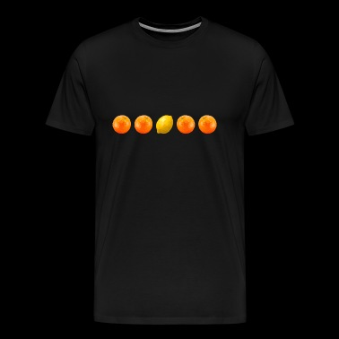 Oranges and lemon in a row - Men's Premium T-Shirt
