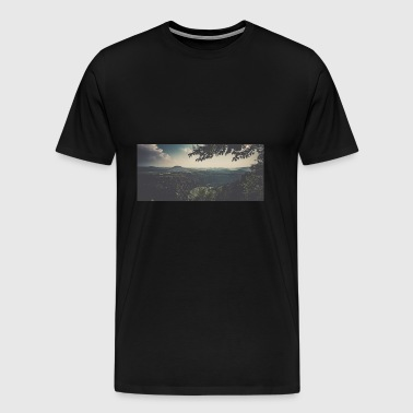 Panorama Elbe Sandstone Mountains - Men's Premium T-Shirt