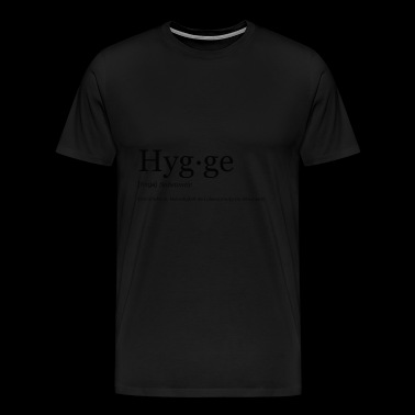 Hygge word in black - Men's Premium T-Shirt