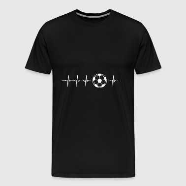 I love football (battement de coeur du football) - T-shirt Premium Homme