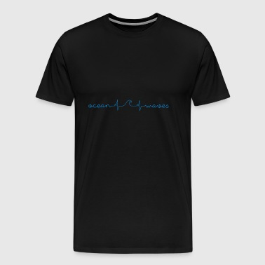 Surfer / Surfing: ocean - waves - Men's Premium T-Shirt