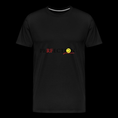 Perfection tennis brand Black/red/yellow - Maglietta Premium da uomo