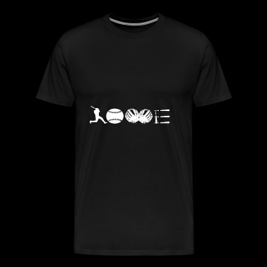 Softball Love T Shirt - Men's Premium T-Shirt
