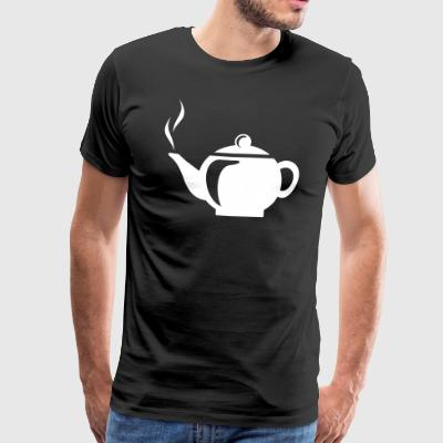 Jug with tea or coffee gift - Men's Premium T-Shirt