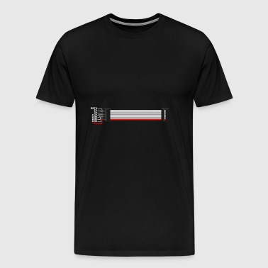 Red Stripe Down! - Männer Premium T-Shirt