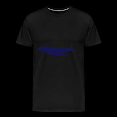 Spaceship vector Silhouette - Men's Premium T-Shirt