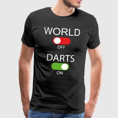 World off - Darts on - Männer Premium T-Shirt