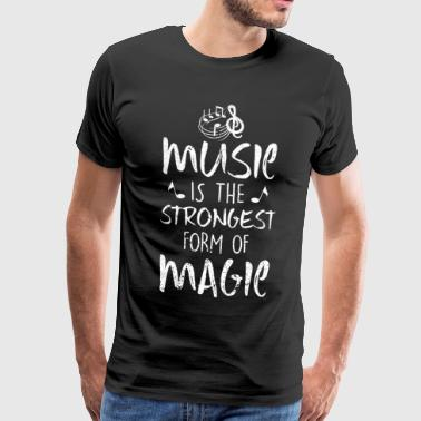Music gift instrument Musician singing notes - Men's Premium T-Shirt